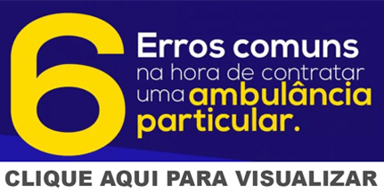 Banner infográfico ambulância particular